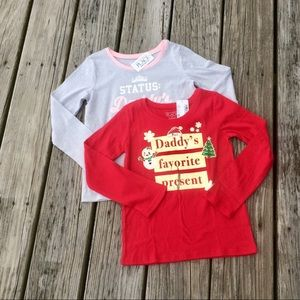 Daddy's Girl Bundle- Two Long Sleeved Tees Holiday